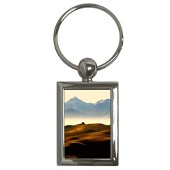 Landscape Mountains Nature Outdoors Key Chains (rectangle)