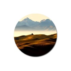 Landscape Mountains Nature Outdoors Magnet 3  (round)
