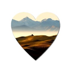Landscape Mountains Nature Outdoors Heart Magnet