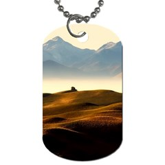 Landscape Mountains Nature Outdoors Dog Tag (two Sides)