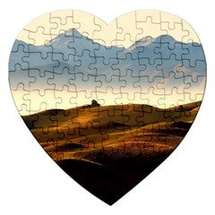 Landscape Mountains Nature Outdoors Jigsaw Puzzle (heart)