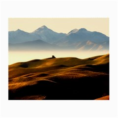 Landscape Mountains Nature Outdoors Small Glasses Cloth