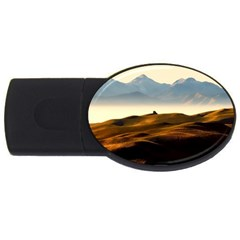 Landscape Mountains Nature Outdoors Usb Flash Drive Oval (4 Gb)