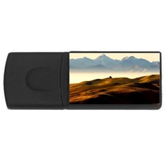 Landscape Mountains Nature Outdoors Rectangular Usb Flash Drive