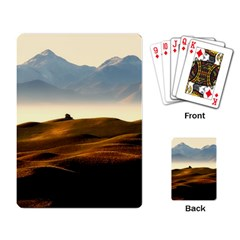 Landscape Mountains Nature Outdoors Playing Card