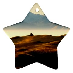 Landscape Mountains Nature Outdoors Star Ornament (two Sides)