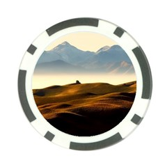 Landscape Mountains Nature Outdoors Poker Chip Card Guard