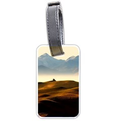 Landscape Mountains Nature Outdoors Luggage Tags (one Side)