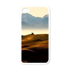 Landscape Mountains Nature Outdoors Apple Iphone 4 Case (white)