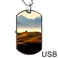Landscape Mountains Nature Outdoors Dog Tag Usb Flash (one Side)