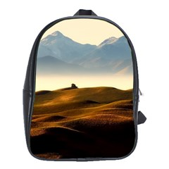 Landscape Mountains Nature Outdoors School Bag (xl)
