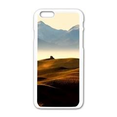 Landscape Mountains Nature Outdoors Apple Iphone 6/6s White Enamel Case