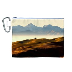 Landscape Mountains Nature Outdoors Canvas Cosmetic Bag (l)