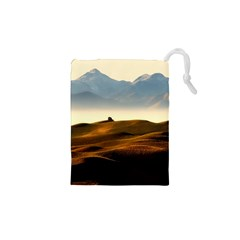 Landscape Mountains Nature Outdoors Drawstring Pouches (xs)