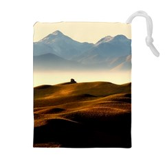 Landscape Mountains Nature Outdoors Drawstring Pouches (extra Large)