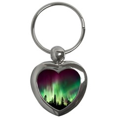 Aurora Borealis Northern Lights Key Chains (heart)