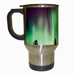 Aurora Borealis Northern Lights Travel Mugs (white)