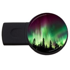 Aurora Borealis Northern Lights Usb Flash Drive Round (4 Gb)