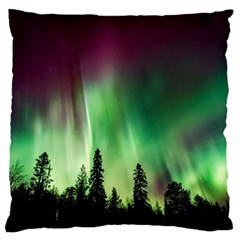 Aurora Borealis Northern Lights Large Cushion Case (one Side)