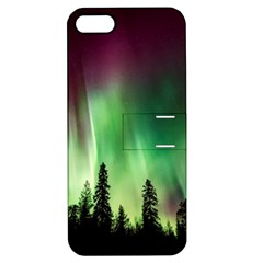 Aurora Borealis Northern Lights Apple Iphone 5 Hardshell Case With Stand