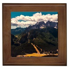 Italy Valley Canyon Mountains Sky Framed Tiles