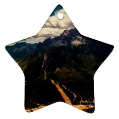 Italy Valley Canyon Mountains Sky Ornament (star)