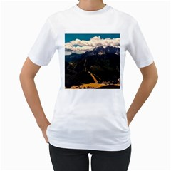 Italy Valley Canyon Mountains Sky Women s T Shirt (white) (two Sided)