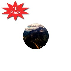 Italy Valley Canyon Mountains Sky 1  Mini Magnet (10 Pack)