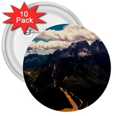 Italy Valley Canyon Mountains Sky 3  Buttons (10 Pack)