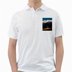 Italy Valley Canyon Mountains Sky Golf Shirts