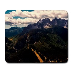 Italy Valley Canyon Mountains Sky Large Mousepads