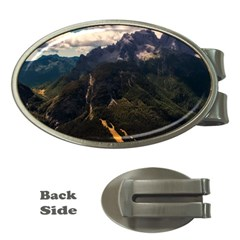 Italy Valley Canyon Mountains Sky Money Clips (oval)
