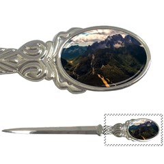 Italy Valley Canyon Mountains Sky Letter Openers