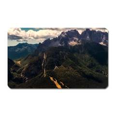Italy Valley Canyon Mountains Sky Magnet (rectangular)