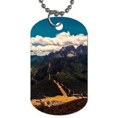 Italy Valley Canyon Mountains Sky Dog Tag (one Side)