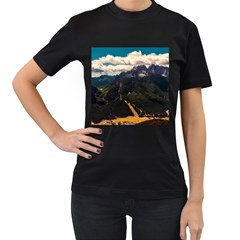 Italy Valley Canyon Mountains Sky Women s T Shirt (black) (two Sided)