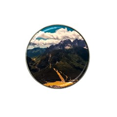 Italy Valley Canyon Mountains Sky Hat Clip Ball Marker (4 Pack)