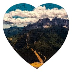 Italy Valley Canyon Mountains Sky Jigsaw Puzzle (heart)