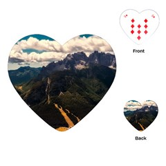 Italy Valley Canyon Mountains Sky Playing Cards (heart)