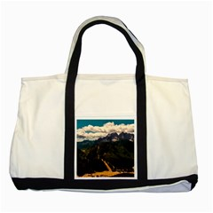 Italy Valley Canyon Mountains Sky Two Tone Tote Bag