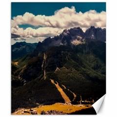 Italy Valley Canyon Mountains Sky Canvas 8  X 10