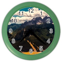 Italy Valley Canyon Mountains Sky Color Wall Clocks