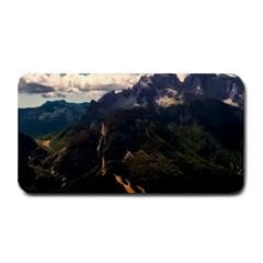 Italy Valley Canyon Mountains Sky Medium Bar Mats