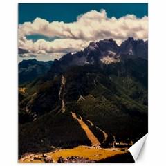 Italy Valley Canyon Mountains Sky Canvas 11  X 14