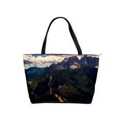 Italy Valley Canyon Mountains Sky Shoulder Handbags