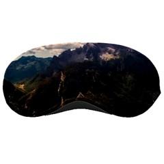 Italy Valley Canyon Mountains Sky Sleeping Masks