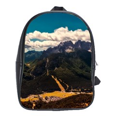 Italy Valley Canyon Mountains Sky School Bag (large)