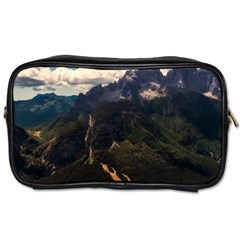 Italy Valley Canyon Mountains Sky Toiletries Bags