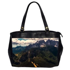 Italy Valley Canyon Mountains Sky Office Handbags (2 Sides)