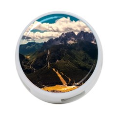 Italy Valley Canyon Mountains Sky 4 Port Usb Hub (two Sides)